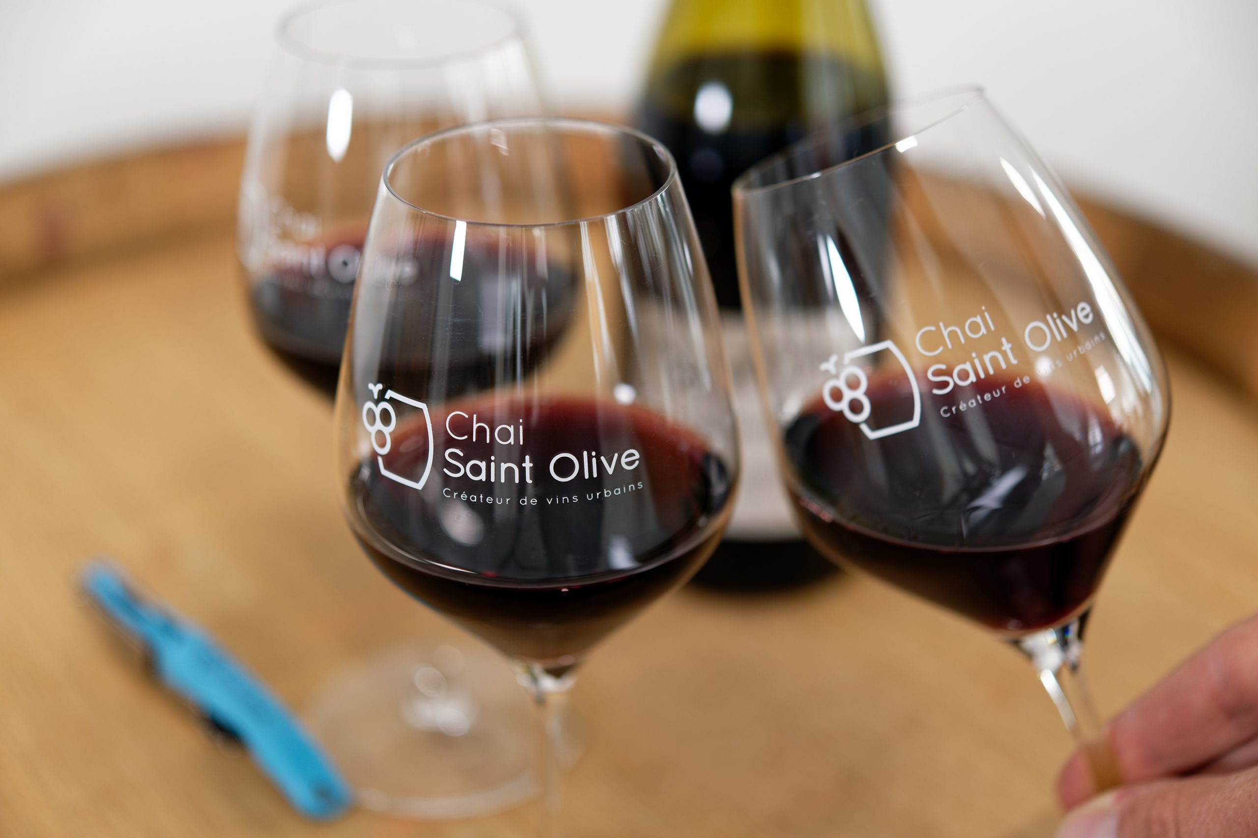 Verres de vin Chai Saint Olive